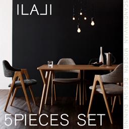 北欧モダンデザインダイニング【ILALI】イラーリ/5点セット(テーブルW140+チェア×4)