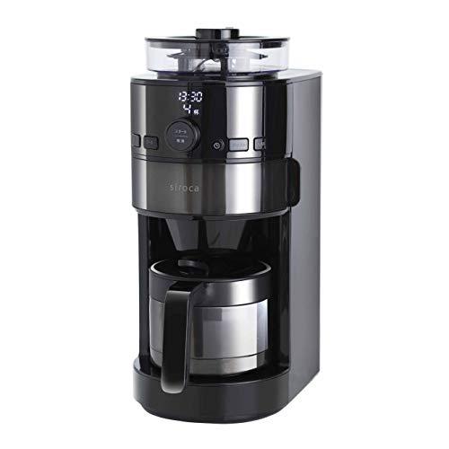 激安格安割引情報満載 シロカ 早割クーポン コーン式全自動コーヒーメーカー 真空二重ステンレスサーバー 自動計量 予約タイマー SC-C121