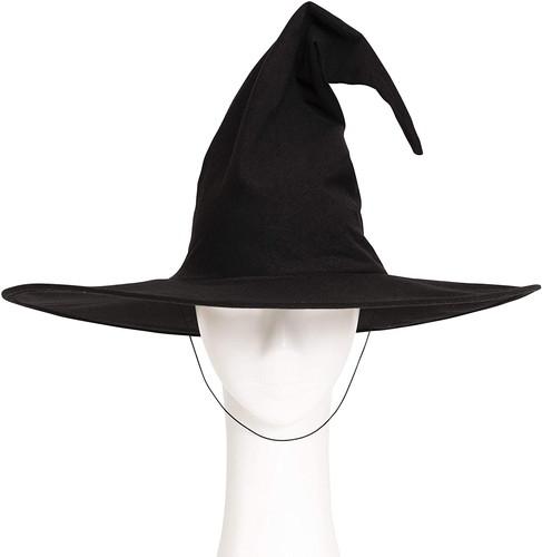プレゼント 帽子先端にワイヤーが入っているので 自由に形を変えられま ハロウィン コスチューム 女性 お化け 文化祭 コスプレ 即納 848219 ゴースト クラシカルウィッチ帽 SEAL限定商品 クリアストーン 魔女帽子