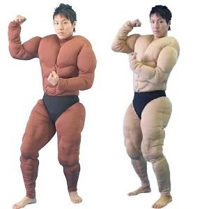 マッスルボディに変身 筋肉スーツ 期間限定10%OFF 送料無料 コスプレ 即納 ブラウン ●日本正規品● 優先配送 ベージュ