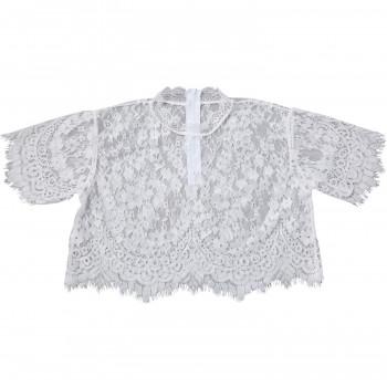 セール品 フォーマルな装いをよりエレガントにする上品なボレロ 期間限定10%OFF レースのボレロ ホワイト 付与