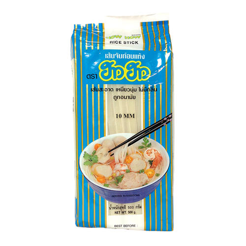 ラーメンやスープに炒め物にぴったり タイ料理だけでなく 中華料理にも使える ビーフン センヤイ10mm 米麺 HOWHOW 500g 大人気 タイ本場使用 定番 タイラーメン 日時指定 パッタイ 両切りタイプ タイ麺料理にはコレ 大規模セール トムヤムラーメン タイビーフン