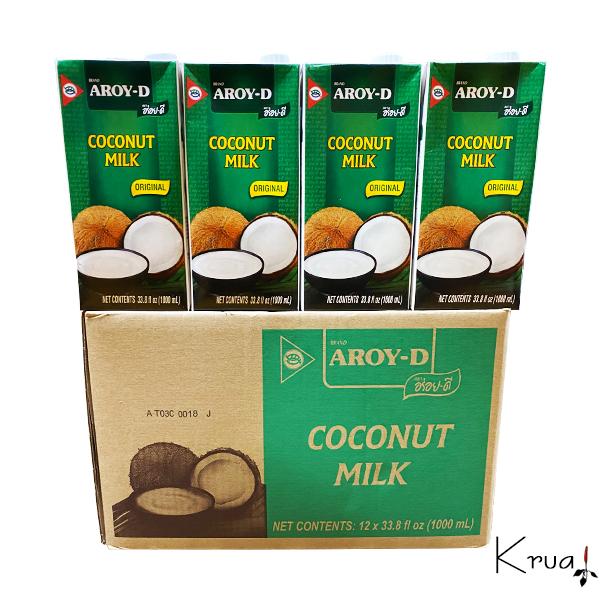 大人気 紙ココナッツミルクのケース販売です ココナッツミルク ガティナム アロイーディー 1000ml×12個 紙 業務用ケース売り 定番 デザート トムヤムクン お菓子 数量は多 タイ料理 ギフト タイカレー AROY-D ココナツミルク グリーンカレー レッドカレー