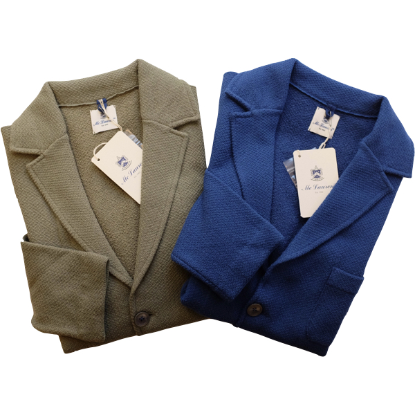 McLauren マックローレン コットンXナイロン ジャージジャケット ブルー・グリーン【セール30】 【春夏】【イタリア製】