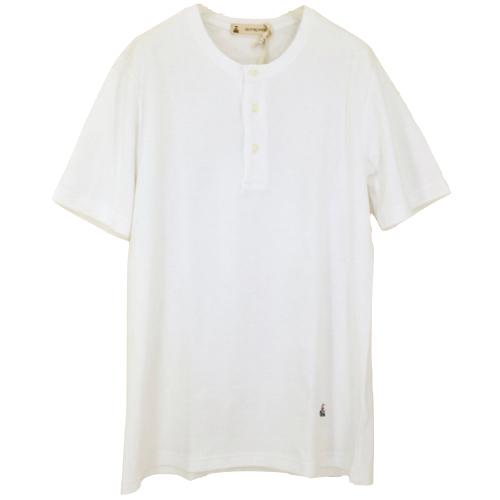 GUY ROVER ギ・ローバー パイルジャージーヘンリーネックTシャツ【イタリア製】 【メール便】