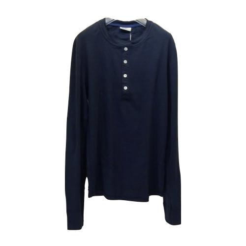 Schiesser シーサー ヘンリーネックロングスリーブTシャツ Karl- Heinz 160097 白・紺・グレー【送料無料】