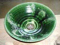 手洗い鉢 織部彫刻 (小) [ 洗面ボウル 陶器 ]