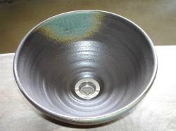 手洗い鉢 灰釉 (小) [ 洗面ボウル 陶器 ]