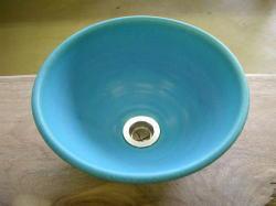 手洗い鉢 トルコブルー (小) [ 洗面ボウル 洗面ボウル陶器 ]