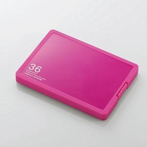 エレコム 低廉 メモリケース SD18枚 ピンク CMC-SDCPP36PN MicroSD18枚収納 定価の67%OFF