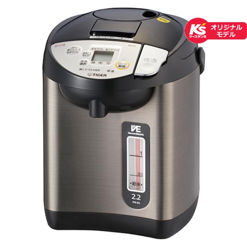 タイガー魔法瓶 電気ポット PIK-KS22 K ブラック【ケーズデンキオリジナルモデル】