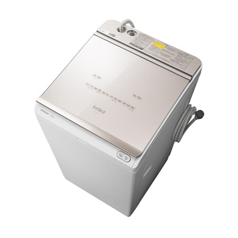(長期無料保証/配送設置無料)日立 たて型洗濯乾燥機 BW-DKX120F N シャンパン 洗濯/乾燥容量:12.0/6.0kg