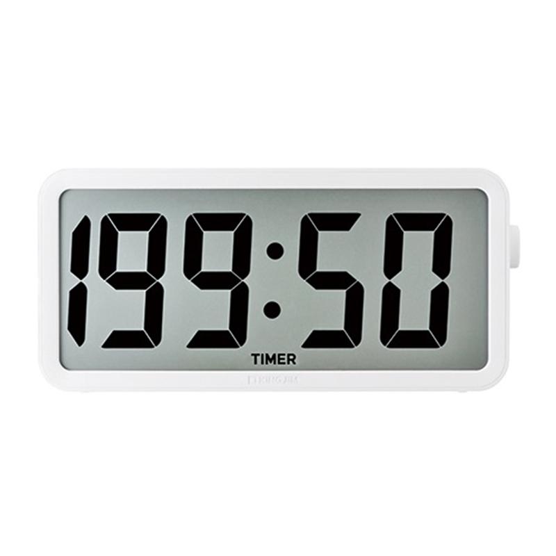 キングジム 電波デジタル掛け置き時計 DTC-001W