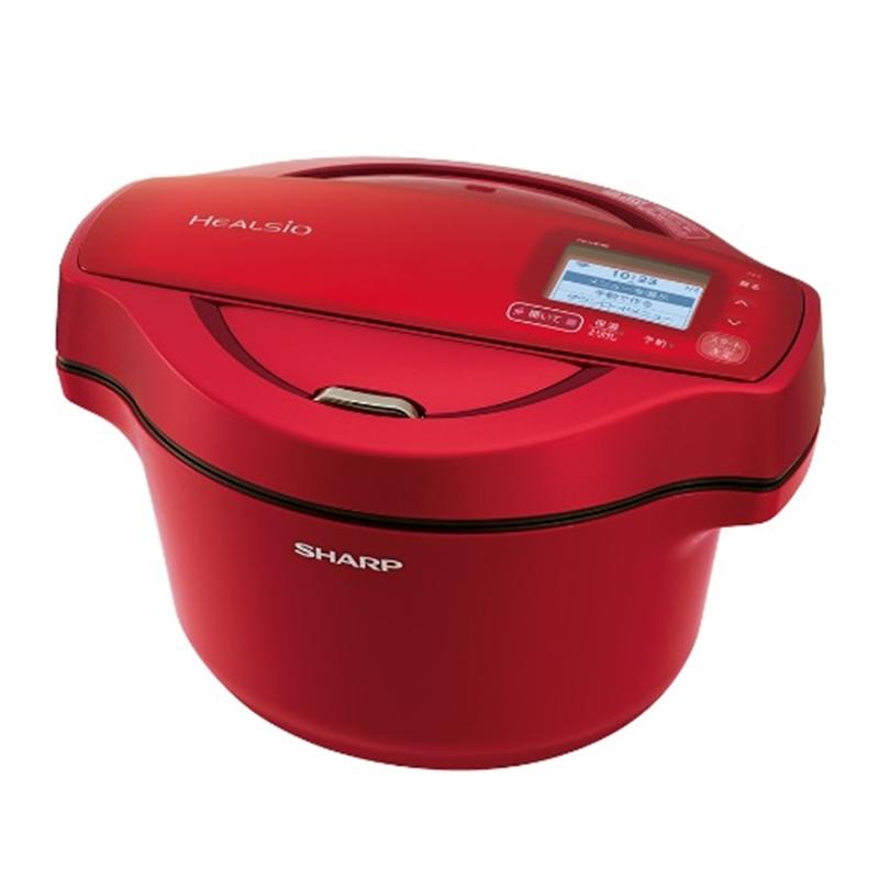 国内正規品 アウトレット シャープ ヘルシオ クリアランスsale!期間限定! ホットクック 水なし自動調理鍋 KN-HW16F-R レッド系