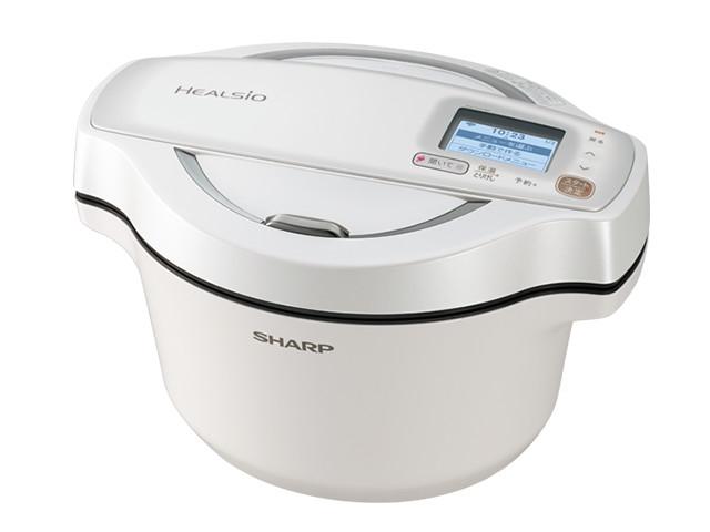 シャープ 水なし自動調理鍋 KN-HW16E-W ホワイト系 調理容量:1.6リットル