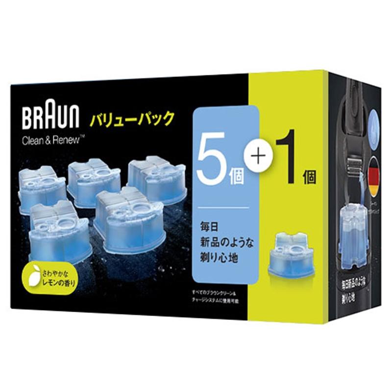 BRAUN アルコール洗浄カートリッジ 5個 直営限定アウトレット CCR5CR 18%OFF 限定品 1個入