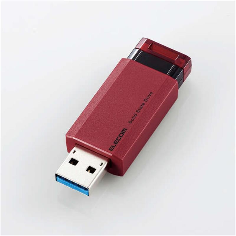 エレコム 外付けポータブルSSD ESD-EPK1000GRD SDD:1TB レッド ついに入荷 公式通販