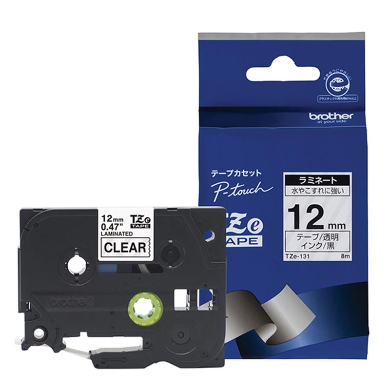 メーカー在庫限り品 ブラザー工業 ラベルライタリボン まとめ買い特価 TZe-131 透明