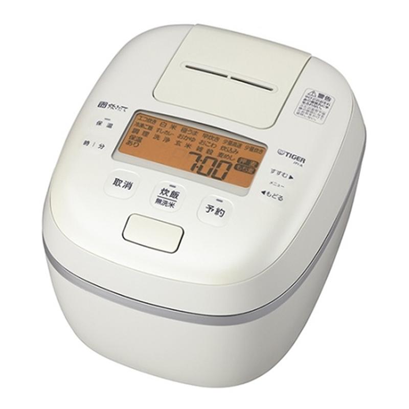 送料無料お手入れ要らず 長期無料保証 タイガー魔法瓶 圧力IH炊飯器 JPI-A100 割り引き オフホワイト 炊飯容量:5.5合 WO