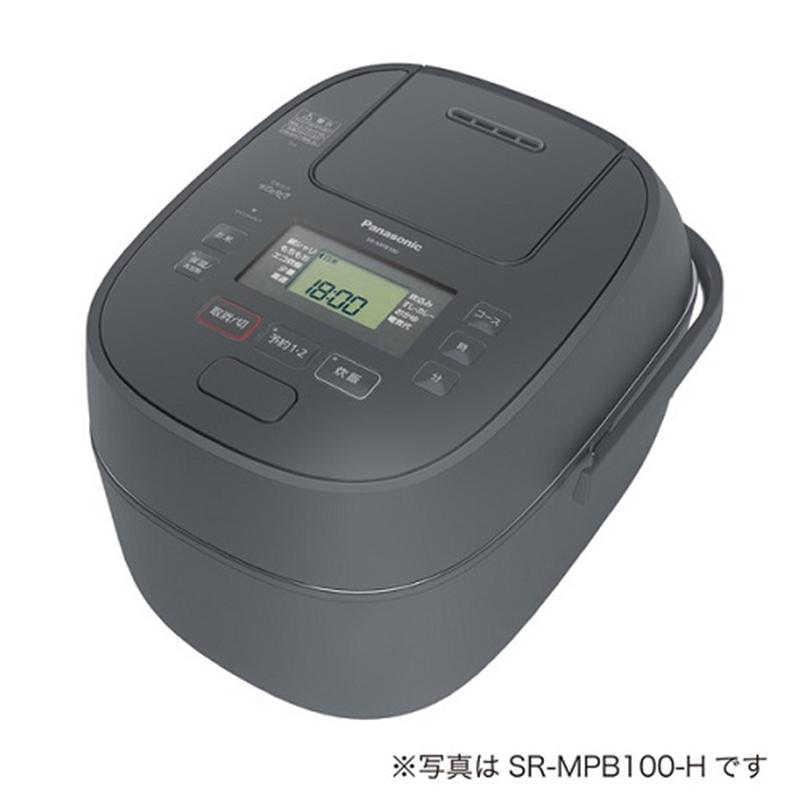 長期無料保証 パナソニック 中古 新着 圧力IH炊飯器 グレー SR-MPB180-H 炊飯容量:1升