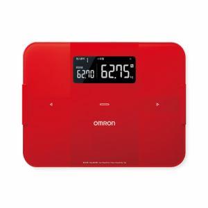 【納期約1~2週間】HBF-255T-R [omron オムロン] 体重体組成計 「カラダスキャン」 レッド HBF255TR