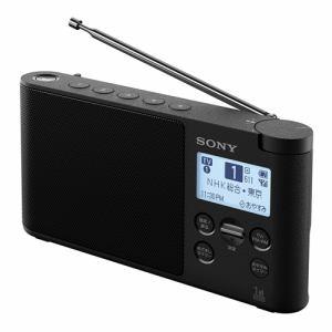 【納期約2週間】SONY ソニー XDR-56TV-B ワンセグTV音声/FMステレオ/AMラジオ ブラック XDR56TVBCB