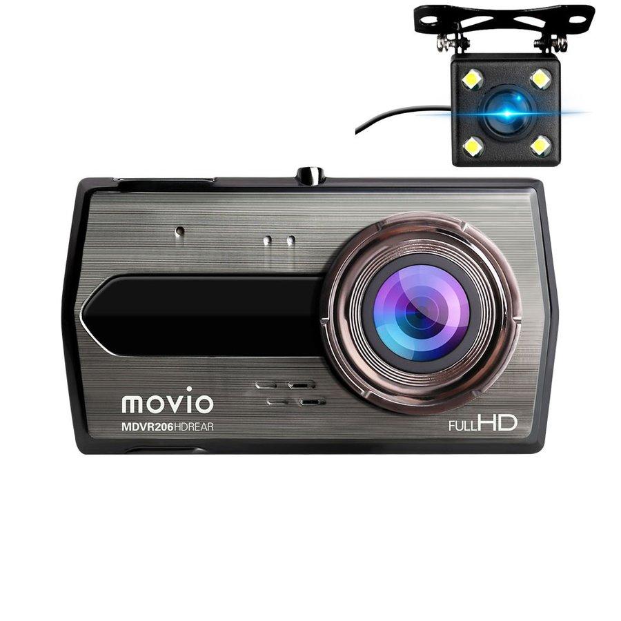 【納期約7~10日】ナガオカ 高画質HDリアカメラ搭載 前後2カメラ ドライブレコーダー movio MDVR206HDREAR