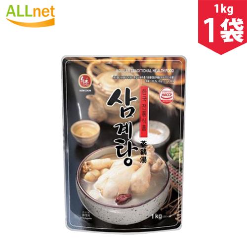 栄養たっぷりの韓国伝統の鶏がらスープです。 ハウチョン参鶏湯 1kg×1袋 参鶏湯 サムゲタン 韓国料理 漢方料理 鍋料理 韓国食材 韓国食品 保養食