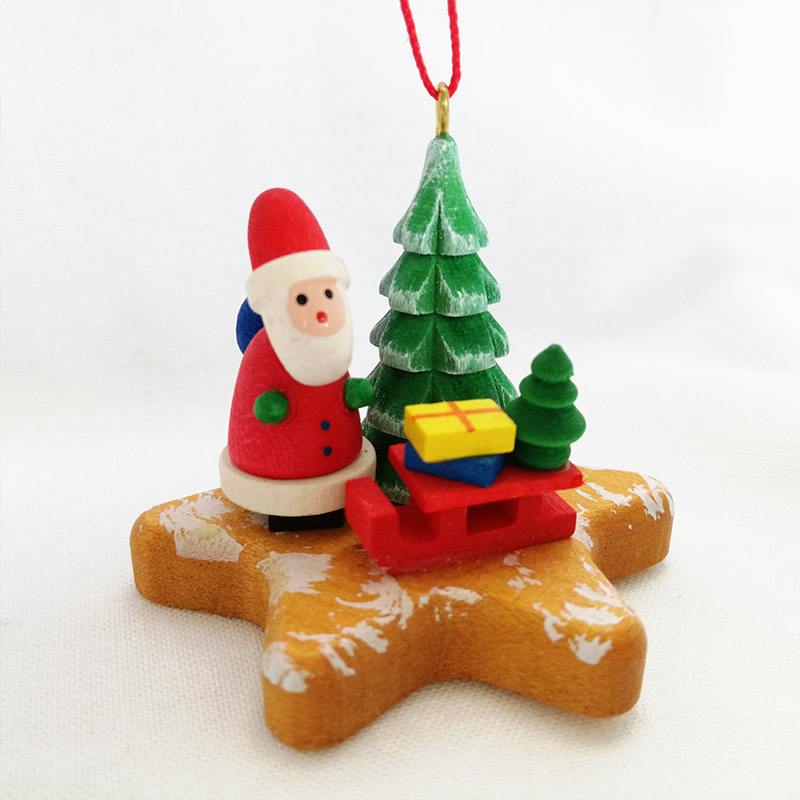 Present Santa Claus On Gingerbread Star Ornament By Ksinteronline Which Christian Ulbricht Ornament Gingernut And Tree Of Santa Claus Germany
