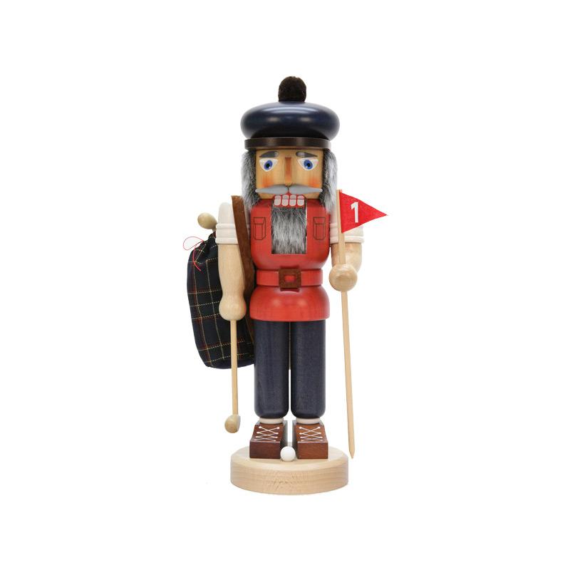 ☆くるみ割り人形☆ ゴルフ 人形 37.5CM ドイツの木工芸品 クリスマスザイフェン Nutcracker クリスマス雑貨 ラッキー 贈り物 装飾 【KSINTERONLINE】【送料無料】