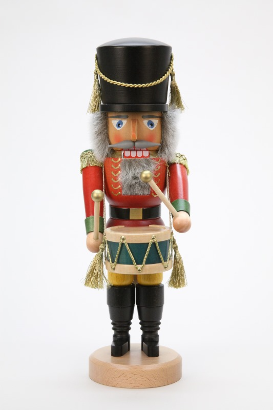 Christmas Drummer.Tree Of The Nutcracker Drummer Doll 39cm Germany Industrial Art Object クリスマスザイフェン Nutcracker Christmas Miscellaneous Goods Lucky Present Decoration