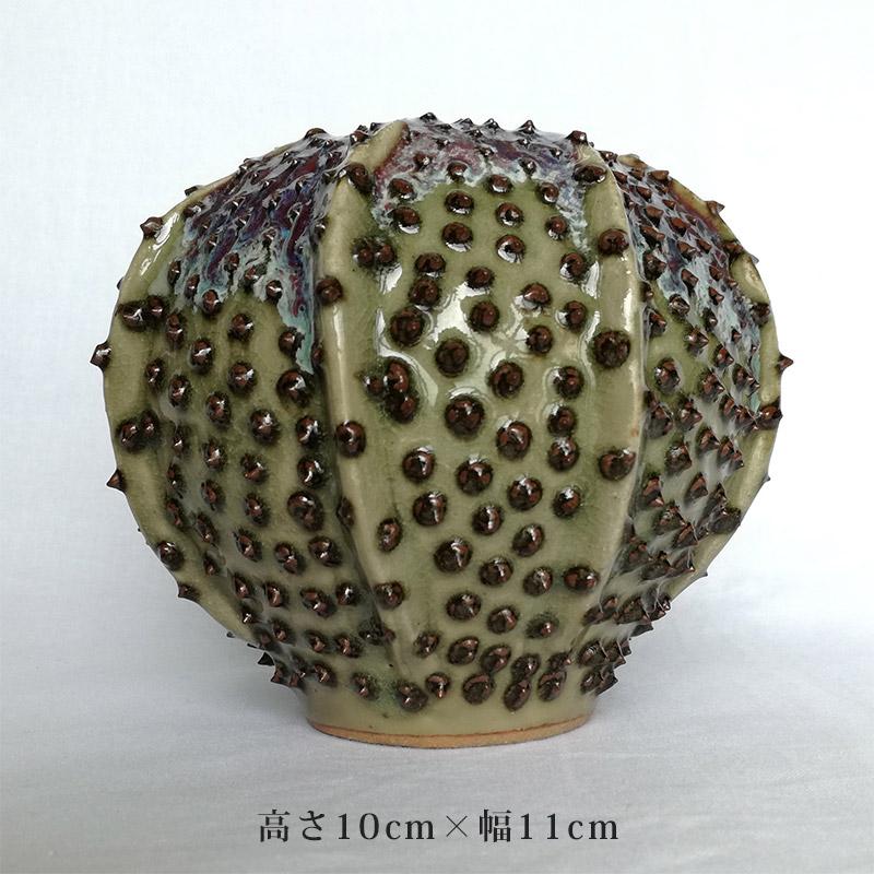 DESPOTS/デスポッツ おしゃれな花瓶 ミニチュア フラワーベース グリーン/高さ10cm×幅11cm/インテリア/デザイン/北欧/オランダ/置物/ガーデニング/陶器/天然/素材/ナチュラル/独創性/緑/dp-mingolf-g-2