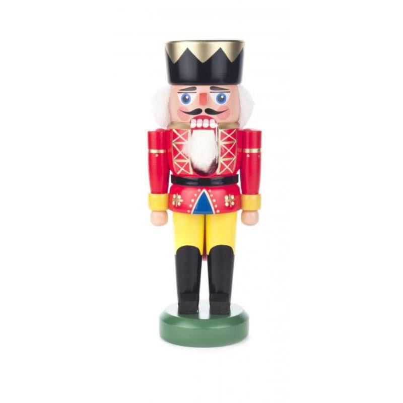 DREGENO くるみ割り人形 王様 レッド 21cm ドイツの木工芸品 クリスマス オーナメント グッズ ザイフェン Nutcracker 雑貨 インテリア 贈り物 装飾 【KSINTERONLINE】【送料無料】0120151