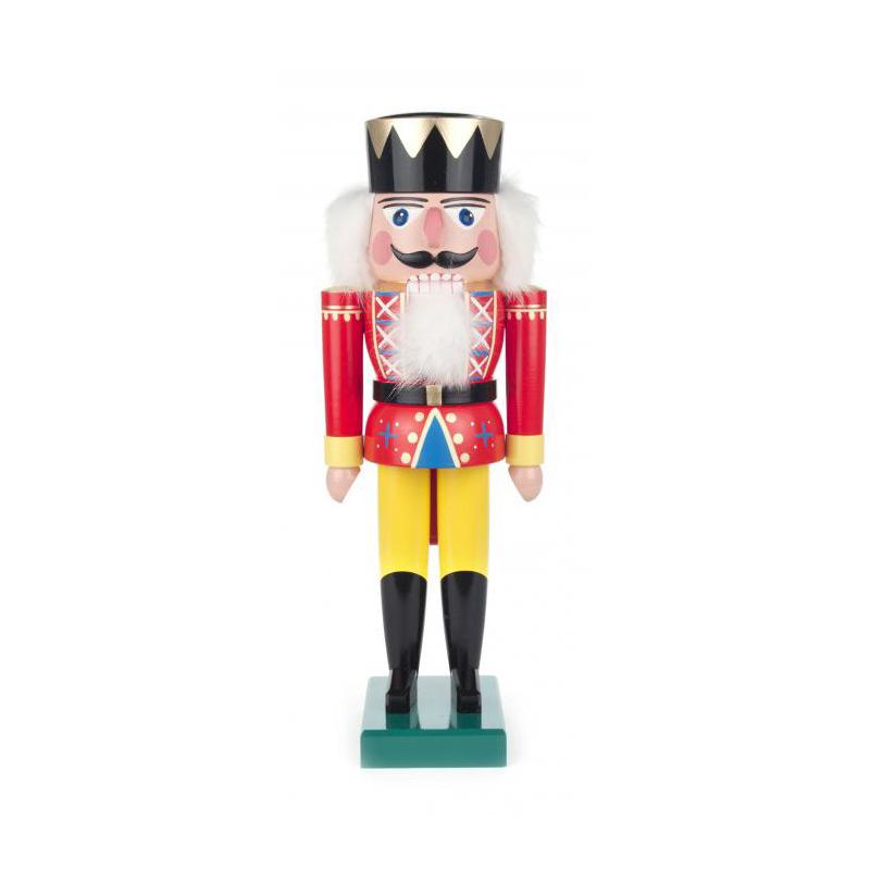 DREGENO くるみ割り人形 王様 36cm レッド ドイツの木工芸品 クリスマス オーナメント グッズ ザイフェン Nutcracker 雑貨 インテリア 贈り物 装飾 【KSINTERONLINE】【送料無料】022020R
