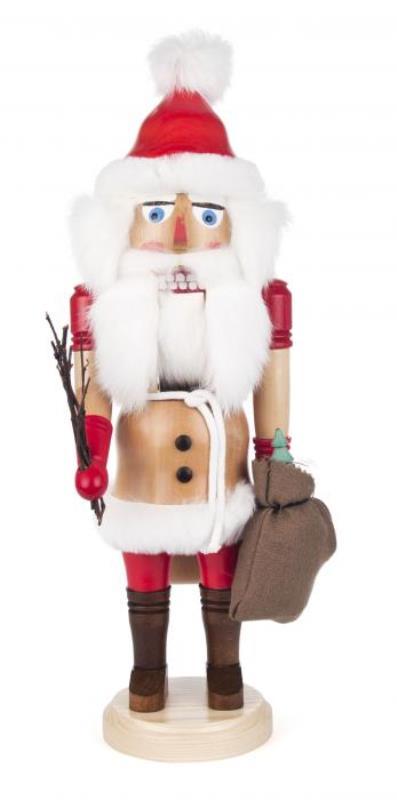 ☆くるみ割り人形☆ SANTA CLAUS サンタクロース 40cm ドイツの木工芸品 クリスマス オーナメント グッズ ザイフェン Nutcracker クリスマス雑貨 ラッキー 贈り物 装飾 【KSINTERONLINE】【送料無料】023004