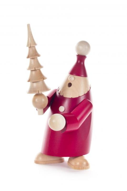 DREGENO SEIFFENER VOLKSKUNST EG 煙出し人形 19cm サンタ姿のドワーフ アンディ&ツリー クリスマスザイフェン村 SMOKER お香別 クリスマス雑貨 木製ラッキー 贈り物 装飾 【KSINTERONLINE】1462015