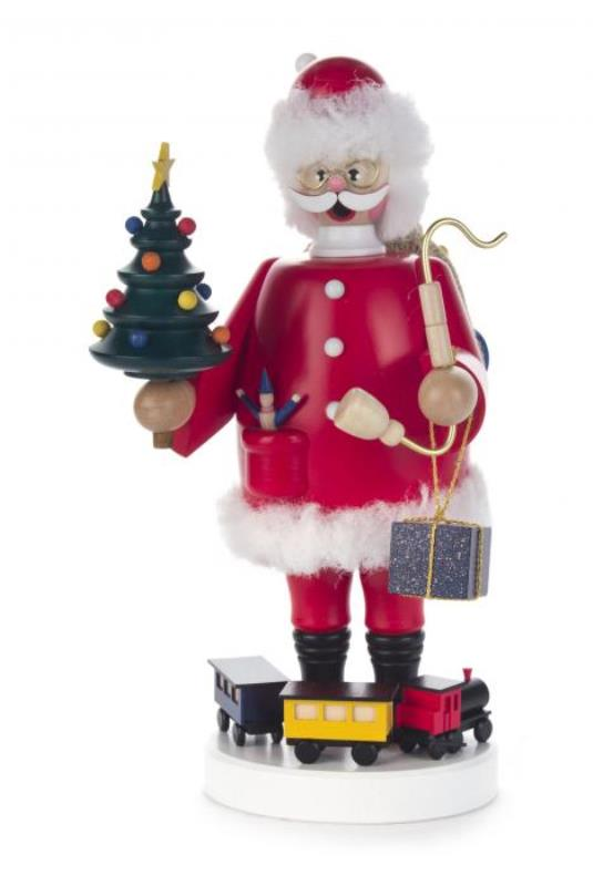DREGENO SEIFFENER VOLKSKUNST EG 煙だし人形 サンタクロース 22cm ドイツの木工芸品 クリスマスザイフェン smorker クリスマス雑貨 ラッキー 贈り物 装飾 【KSINTERONLINE】146252