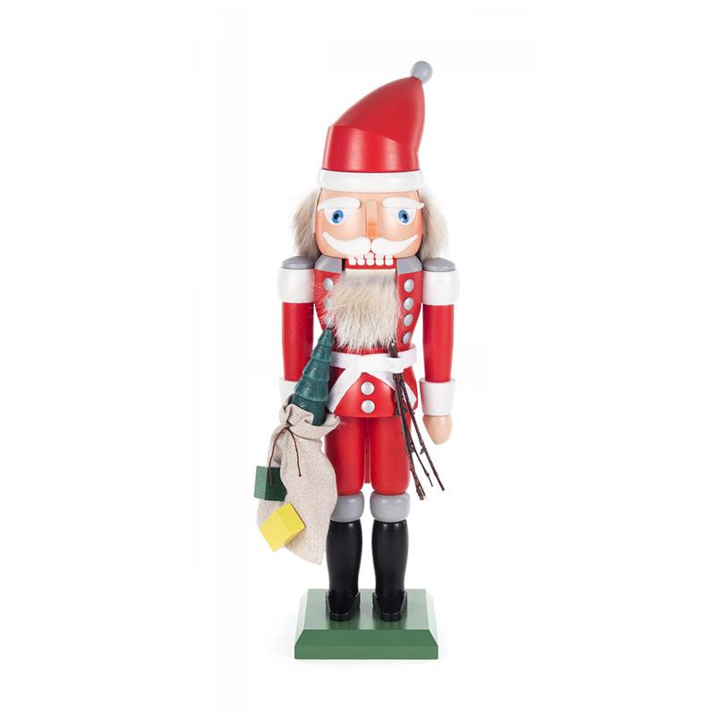 くるみ割り人形 クリスマス雑貨 ドイツの木工芸品 DREGENO OLAF KOLBE SANTA CLAUS サンタクロース 32cm クリスマス 装飾 KSINTERONLINE お求めやすく価格改定 訳あり商品 Nutcracker 贈り物 ラッキー ザイフェン オーナメント 24015 グッズ 送料無料