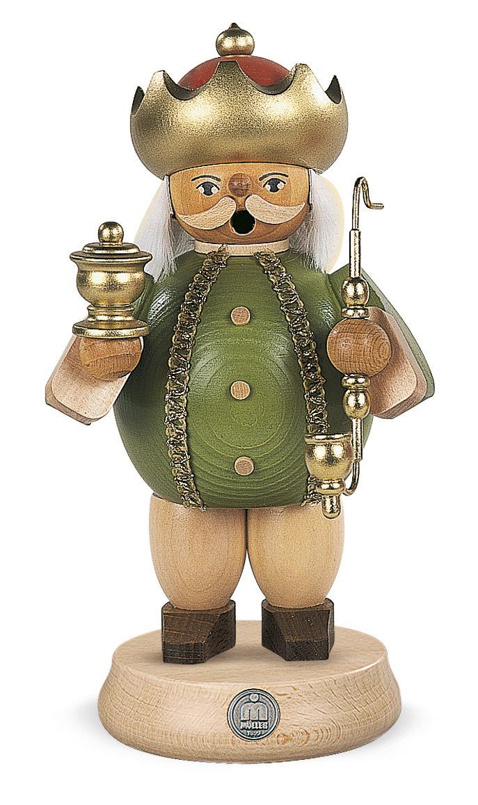 煙だし人形 クリスマス雑貨 ドイツの木工芸品 MUELLER 新作販売 SALE 煙出し人形 18cm 壺を持った賢者 Caspar クリスマス ザイフェン村 本場 贈り物 KSINTERONLINE ドイツ SMOKER 東方の三博士 木工芸品 装飾 木製ラッキー 16181