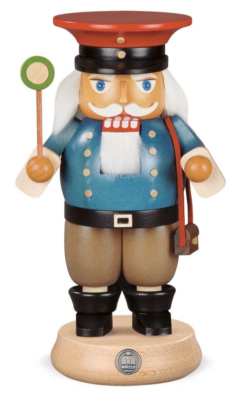 ☆くるみ割り人形☆ 鉄道員 人形 23CM ドイツの木工芸品 クリスマスザイフェン Nutcracker クリスマス雑貨 ラッキー 贈り物 装飾 【KSINTERONLINE】【送料無料】