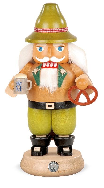 木工品 工芸品 限定品 置物く 雑貨 贈り物 くるみ割り人形 おすすめ 兵士人形 王様人形 ラッキー 人形 プレゼント MUELLER ブレッツェル クリスマス雑貨 送料無料 14280 Nutcracker グッズ クリスマス 装飾 ビール ザイフェン オーナメント KSINTERONLINE 23cm ドイツの木工芸品