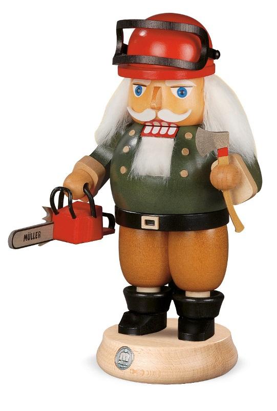 MUELLER くるみ割り人形☆ 工匠 職人 人形 23cm ドイツの木工芸品 クリスマス オーナメント グッズ ザイフェン Nutcracker クリスマス雑貨 ラッキー 贈り物 装飾 【KSINTERONLINE】【送料無料】14286
