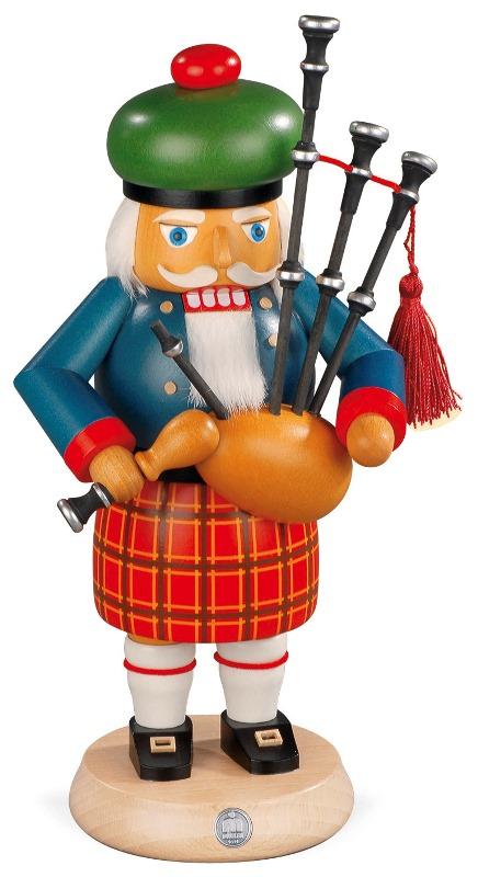 MUELLER くるみ割り人形 スコットマン バッグパイプ 27cm ドイツの木工芸品 クリスマス オーナメント グッズ ザイフェン Nutcracker クリスマス雑貨 ラッキー 贈り物 装飾 【KSINTERONLINE】【送料無料】14302