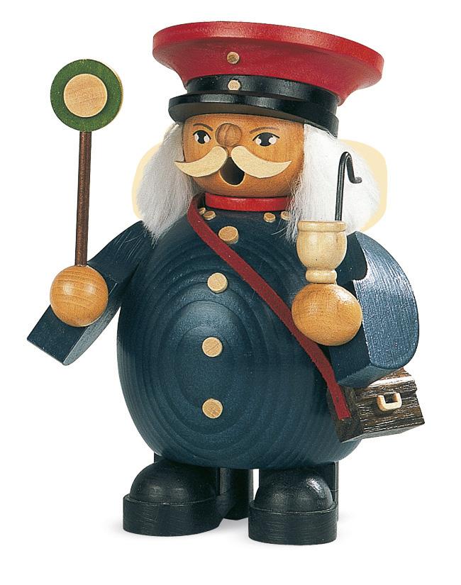 MUELLER 煙出し人形 14cm ザイフェン 鉄道会社の小さな 喫煙者 クリスマス雑貨 木製ラッキー 贈り物 装飾 【KSINTERONLINE】16056