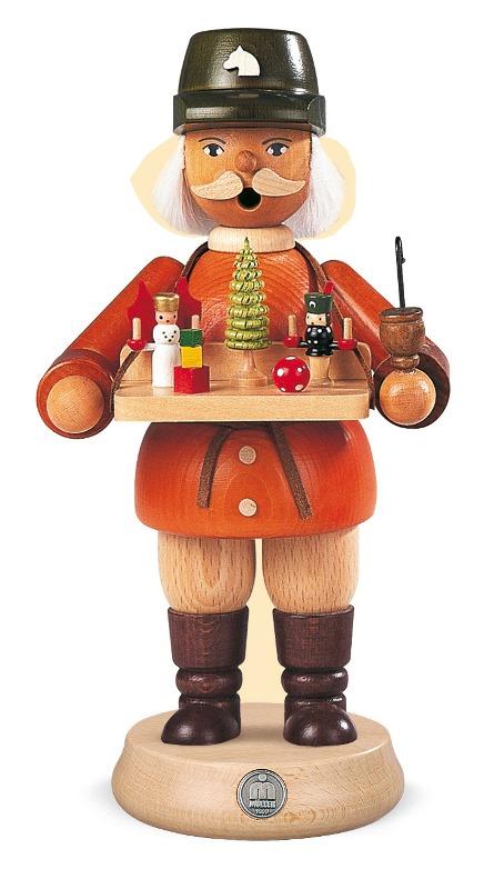 ☆煙出し人形☆ 23CM おもちゃ売り 人形 クリスマスザイフェン SMOKER SMOKING MAN クリスマス雑貨 木製ラッキー 贈り物 装飾 【KSINTERONLINE】