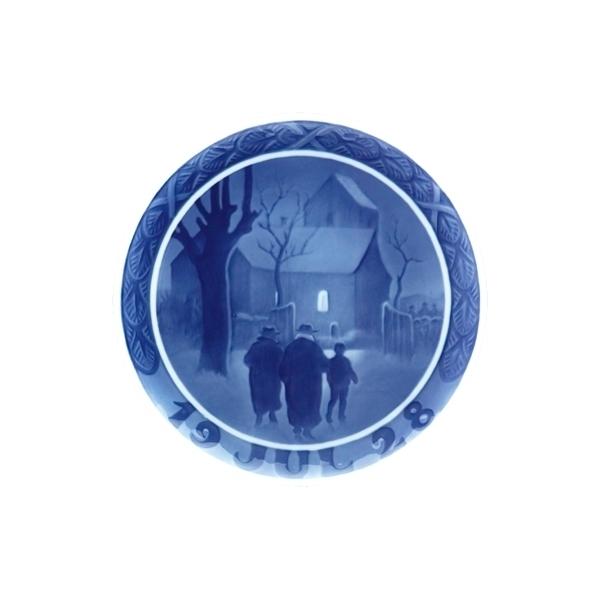 ロイヤルコペンハーゲン/イヤープレート【教会へ向かう牧師の家族】1928年版 / 昭和3年/18cm プレゼント/贈答/記念品/クリスマス/皿/限定/デンマーク/インテリア/飾る/きれい/高級