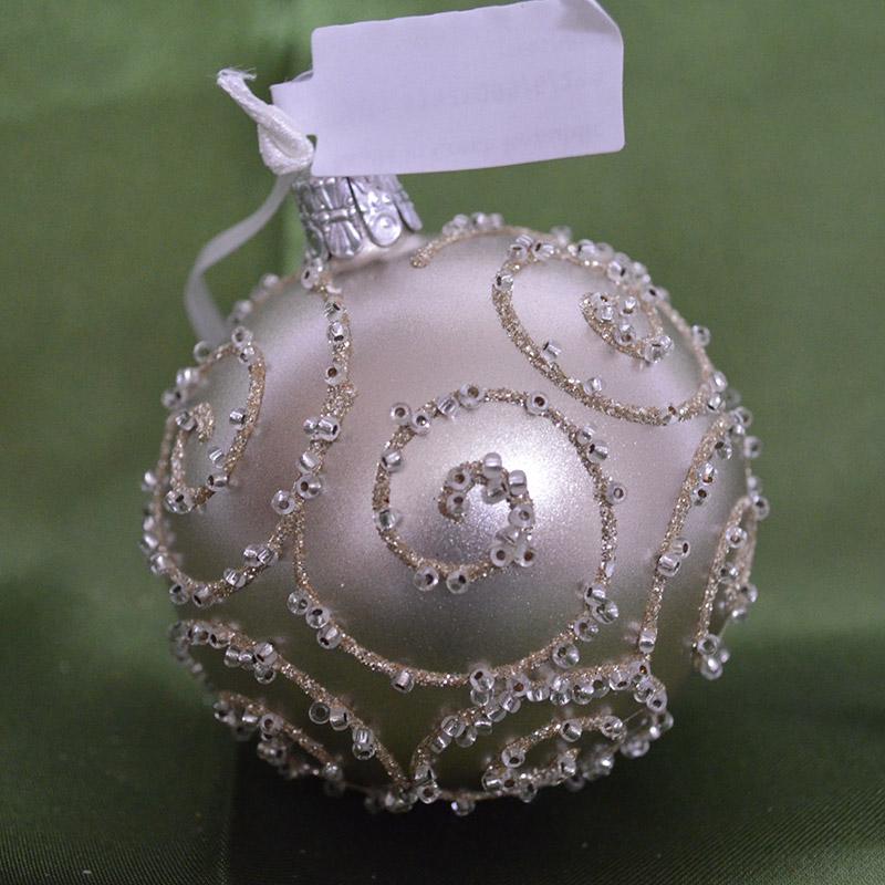 手作りチェコ製ガラスボール チェコORNEX製 ガラスボール 好評 6cm ゴールドメタリック お得クーポン発行中 エレガント 金 クリスマス キラキラ オーナメント 本場 ヨーロッパ 装飾 ツリー 飾り