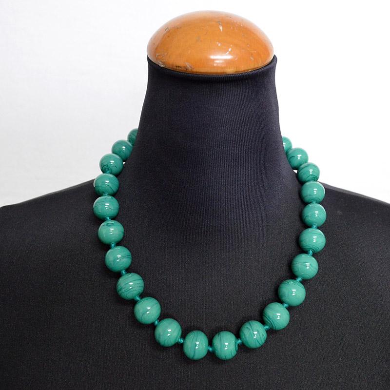 ヴェネチアングラス ネックレス 横置き約22cm/アクセサリー/ 翡翠 グリーン