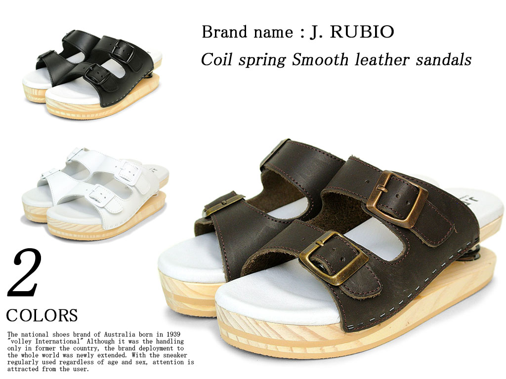 All three colors of 2101 coil springs mousse leather sandals Lady's SS10P03mar13 02P13Dec13P12Sep14
