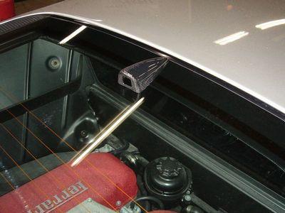 ★フェラーリFXXも採用★ M-Tecnologia製フェラーリ360モデナF430用【カーボン製】リアビューカメラカバー